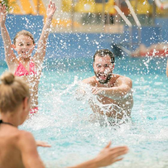 Familie in der H2O-Kindertherme