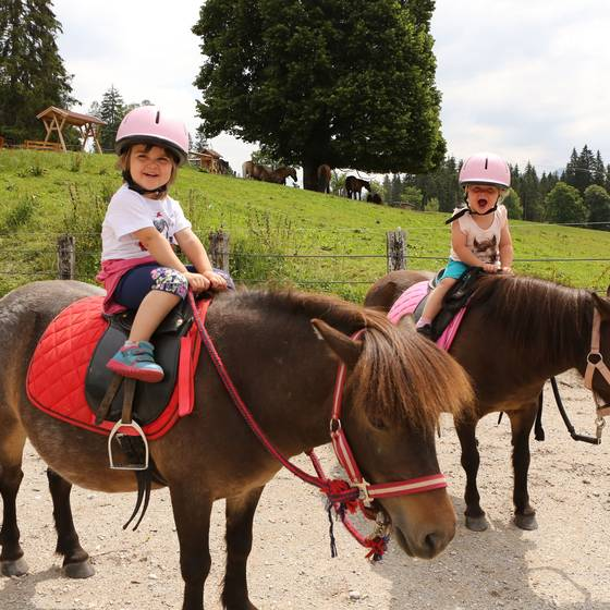 Kinder beim Ponyreiten (Foto: Photo Austria)